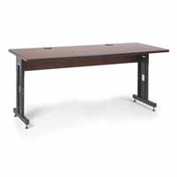 "Kendall Howard 5500-3-003-36 72"" W x 30"" D Training Table - Serene Cherry"