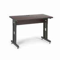 "Kendall Howard 5500-3-004-24 48"" W x 24"" D Training Table - African Mahogany"