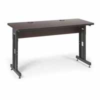 "Kendall Howard 5500-3-004-25 60"" W x 24"" D Training Table - African Mahogany"