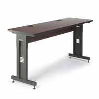 "Kendall Howard 5500-3-004-26 72"" W x 24"" D Training Table - African Mahogany"