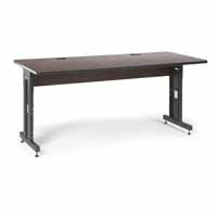 "Kendall Howard 5500-3-004-36 72"" W x 30"" D Training Table - African Mahogany"