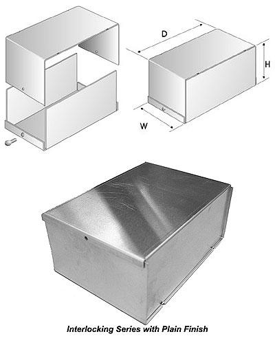 """2-1//4/""""H x 2-1//4/""""W x 4/""""D LMB107 LMB Heeger LMB107 Enclosure"""