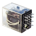 Magnecraft W78KCSX-12 Relay 12VDC 160Ohm 5A 4PDT (27.9x21.79mm) Socket Ice Cube Relay.