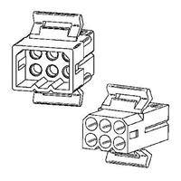 "Molex 1261PRT<br>6 Circuit Connectors w/Recepticle & Plug - .093"" Series"