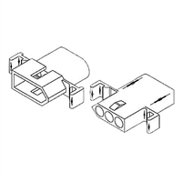 "Molex 1396PRT<br>3 Circuit Connectors w/Recepticle & Plug - .093"" Series"