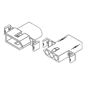 "Molex 1396PRT 3 Circuit Connectors with Receptacle & Plug - .093"" Series"