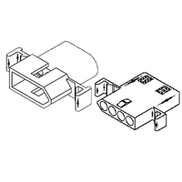"Molex 1490PRT<br>4 Circuit Connectors w/Recepticle & Plug - .093"" Series"