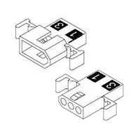 "Molex 1625-3PRT<br>3 Circuit Connectors w/Recpticles & Plugs - .062"" Series"
