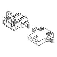 "Molex 1625-4PRT<br>4 Circuit Connectors w/Recpticles & Plugs - .062"" Series"