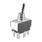 "NTE Toggle Switch, DPDT, 15A, 125VAC - ON NONE ON - .250"" Terminals 54-003"