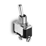NTE Toggle Switch, SPST, 15A, 125VAC - ON NONE OFF - Screw Terminals 54-008