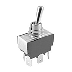 "NTE Toggle Switch, DPDT, 15A, 125VAC - ON OFF ON - .250"" Terminals 54-012"