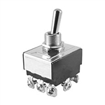 NTE Toggle Switch, 3PDT, ON OFF ON - Screw Terminals 54-015