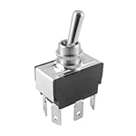 NTE Toggle Switch, DPDT, 15A, 125VAC - ON NONE ON 54-027