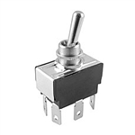 NTE Toggle Switch, DPDT, 15A, 125VAC - ON OFF ON 54-028