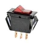 NTE Rocker, Lighted, Red, SPST, 15A, 125VAC Switch OFF NONE ON 54-054