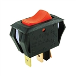 NTE Rocker, Lighted, Red, SPST, 16A, 125VAC Switch OFF NONE ON 54-065