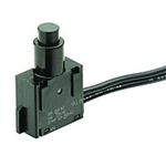 NTE Pushbutton, SPST, 15A, 125VAC Switch ON OFF 54-072