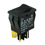 NTE Rocker, SPDT, 8A, 125VAC Switch ON NONE ON 54-074