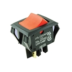 NTE Rocker, Lighted, Red, DPST, 20A, 125VAC Switch OFF NONE ON 54-082