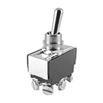 NTE Toggle Switch, DPDT, 20A, 125-277VAC - ON NONE ON - Screw Terminals 54-099