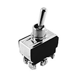 NTE Toggle Switch, DPDT, 20A, 125-277VAC - ON OFF ON - Screw Terminals 54-100