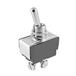 NTE Toggle Switch, SPST, 15A, 125VAC - (ON) NONE OFF - Screw Terminals 54-103