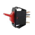 NTE Rocker, Lighted, Red, SPST, 16A, 125VAC Switch OFF NONE ON 54-106