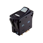 NTE Switch Rocker Waterproof Illuminated SPST 20A On-None-Off 12V Green & Amber LED .250 QC Terminals 54-150