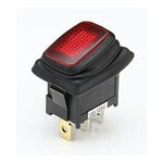 NTE 54-201W Waterproof Lighted Rocker Switch