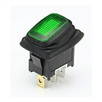 NTE 54-203W Waterproof Lighted Rocker Switch