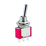 NTE Toggle Switch - SPDT - 5A 120VAC -  ON-NONE-ON - Epoxy Sealed Solder Terminals 54-302E