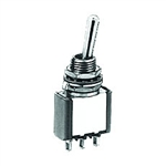 NTE Toggle Switch - SPDT - 6A 125VAC - ON OFF ON - Epoxy Sealed Solder Terminals 54-303
