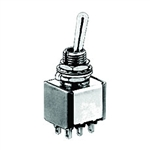 NTE Toggle Switch - SP3T - 6A 125VAC - ON ON ON - Epoxy Sealed Solder Terminals 54-306