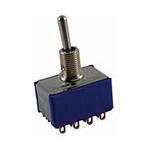 NTE Toggle Switch - 4PDT - 6A 125VAC - ON OFF ON - Epoxy Sealed Solder Terminals 54-313