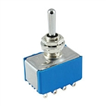 NTE Toggle Switch - 4PDT - 6A 125VAC - (ON) OFF (ON) - Epoxy Sealed Solder Terminals 54-314