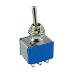 NTE Toggle Switch - 3PDT - 6A 125VAC - ON OFF (ON) - Epoxy Sealed Solder Terminals 54-326