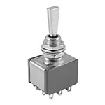 NTE Toggle Switch, 3PDT, 6A, 125VAC - (ON) OFF (ON) 54-340