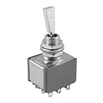NTE Toggle Switch, 3PDT, 6A, 125VAC - ON NONE (ON) 54-342
