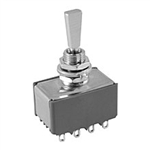 NTE Toggle Switch, 4PDT, 6A, 125VAC - ON OFF ON 54-344