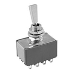 NTE Toggle Switch, 4PDT, 6A, 125VAC - ON NONE (ON) 54-347