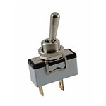 NTE Toggle Switch, SPST, ON NONE OFF - Solder Lug/Quick Disconnect Terminals 54-348