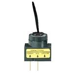NTE Toggle Switch, SPST, 20A, 12VDC, Black - ON NONE OFF 54-566