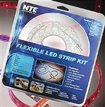 NTE 69-36-[Select Color]-KIT LED Strip Kit, Flexible 300 LEDs 16.4ft Non-Waterproof - Includes LED Strip, Power Supply and Connectors