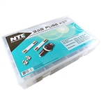 NTE 74-3AGKIT Fuse Kit 3AG Equivalent 6 X 30MM Glass Assorted Slow Blow/Fast Acting - Fuse Holders - Fuse Clips