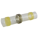 NTE 76-HISBC12C Butt Connectors Heat Shrink Insulated Solder 12-10AWG Waterproof 100/pkg