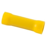 NTE 76-IBC12-PK Butt Connectors 12-10 AWG Yellow PVC Insulated 10/pkg