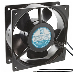 "Orion OA109AP-11-1WB Cooling Fan 115v AC Fan Ball Bearing 120 x 38mm 4.7"" x 1.5"" 3000RPM Wire Leads"