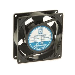 "Orion OA92AP-11-2TB Fan 115v AC Ball Bearing 92 x 25mm - 3.62"" x 1.0"" 2300RPM Terminals"