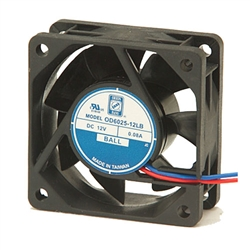 "Orion OD6025-12HB Cooling Fan 12VDC - 60 x 25mm - 2.36"" x 1"" High Speed"